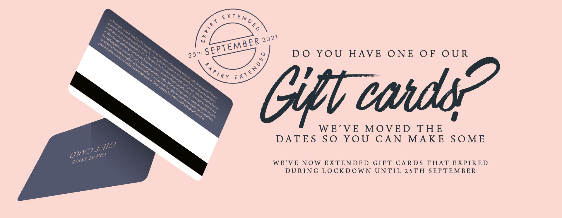 Give the gift of a gift card at The Coombe Cellars