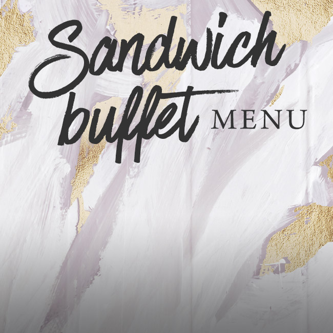 Sandwich buffet menu at The Coombe Cellars